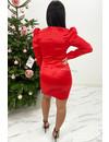 RED - 'AMBER' - SATIN LONG SLEEVE DRESS