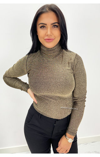 GOLD - 'LOIS' - FITTED SPARKLE COL