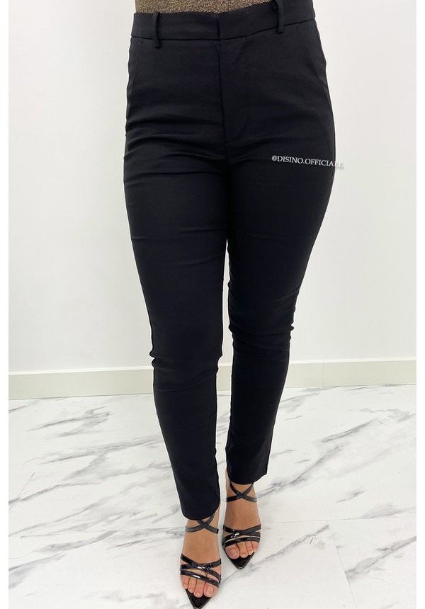 BLACK - 'TANIA' - CLASSY PANTS WITH POCKETS