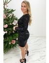 BLACK - 'YVANA' - ALL OVER SEQUINN DRESS