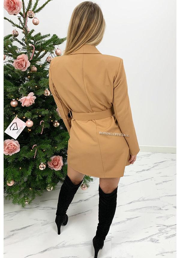 CAMEL - 'SASCHA' - BLAZER DRESS