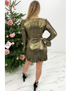 GOLD - 'BRIANNE' - METALLIC RUFFLE DRESS