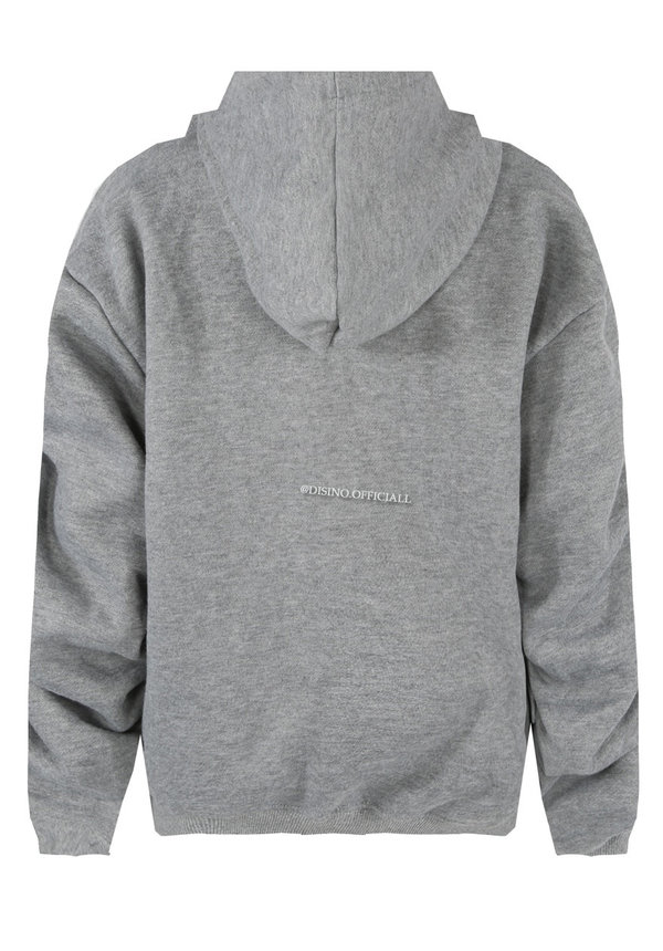 GREY - 'DONNA' - PREMIUM QUALITY RUCHED SLEEVE HOODIE
