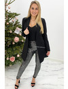 BLACK - 'NICOLE V-NECK' - PERFECT FIT LONG SLEEVE TOP