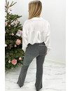SILVER - 'LIMA' - SPARKLE FLARED PANTS