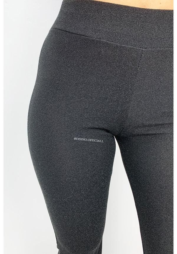 BLACK - 'LIMA' - SPARKLE FLARED PANTS