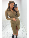 BROWN - 'KOURTNEY' - PERFECT FIT RUCHED BLOUSE DRESS
