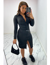 BLACK - 'KOURTNEY' - PERFECT FIT RUCHED BLOUSE DRESS