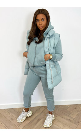 MINT GREEN - 'NORTH' - BODYWARMER 3 PIECE JOGGER SET