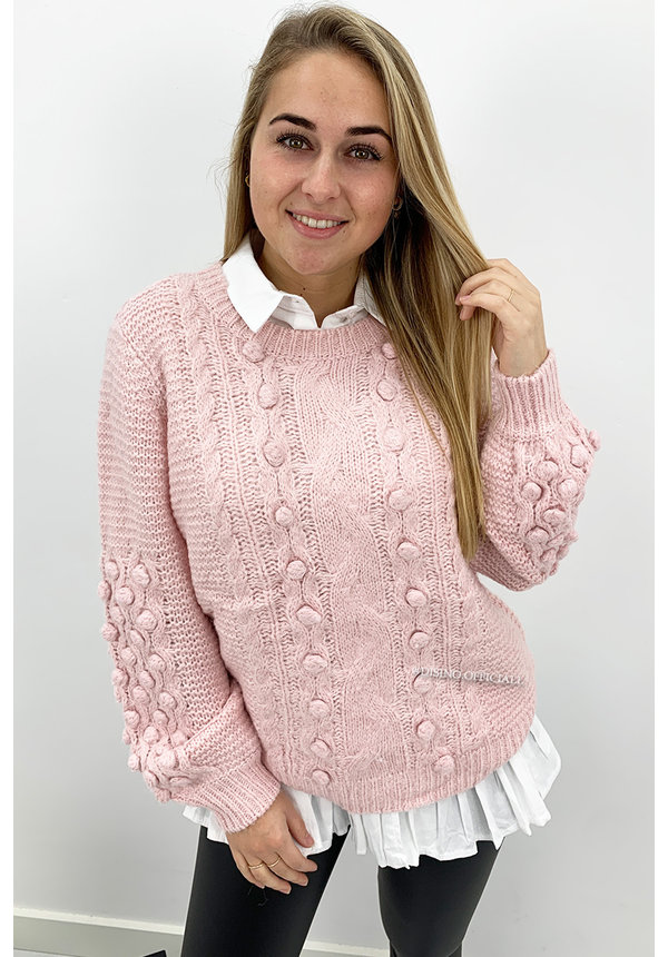 PINK - 'JENNIFER KNIT' - PREMIUM QUALITY KNIT SWEATER
