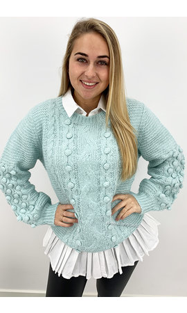 MINT GREEN - 'JENNIFER KNIT' - PREMIUM QUALITY KNIT SWEATER