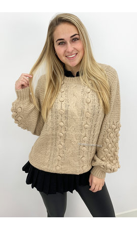 CAMEL - 'JENNIFER KNIT' - PREMIUM QUALITY KNIT SWEATER