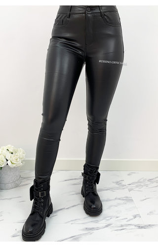 BLACK - VS MISS - 'PERFECT VEGAN LEATHER PANTS' - 19050