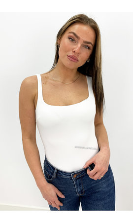 WHITE - 'NOVA' - SEAMLESS BASIC BODYSUIT