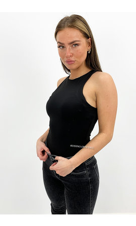 BLACK - 'NOVA HALTER' - SEAMLESS BASIC BODYSUIT