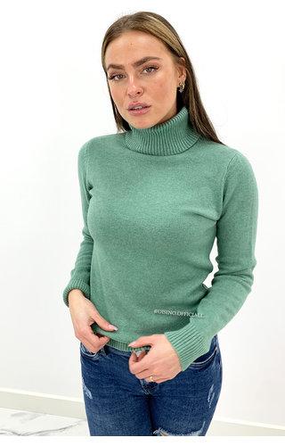 PINKA MINT GREEN - 'PINKA COL' - PREMIUM QUALITY SOFT TOUCH COL TOP