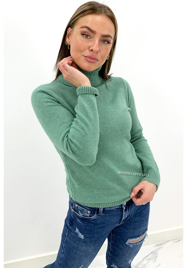 MINT GREEN - 'PINKA COL' - PREMIUM QUALITY SOFT TOUCH COL TOP