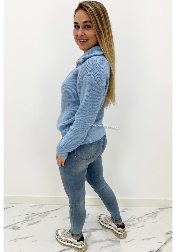 LAULIA - WHITEWASH BLUE - HIGH WAIST SKINNY JEANS - 336