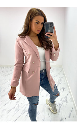 PINK - 'KIMMY' - PERFECT BUTTON BLAZER