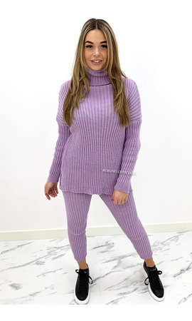 LILA - 'TARA' - COMFY COL KNIT TWO PIECE SET
