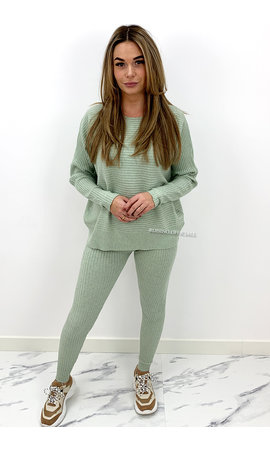 MINT GREEN - 'ANGELA' - RIBBED COMFY SET