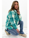 MINT GREEN - 'JULIA' - COZY CHECKED TEDDY JACK