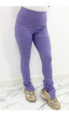 LILA - 'SUEDINE NOELLE' - SIDE SPLIT PANTS