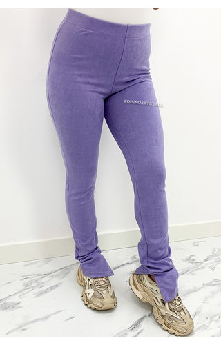 LILA - 'SUEDINE NOELLE' - SIDE SPLIT PANTS