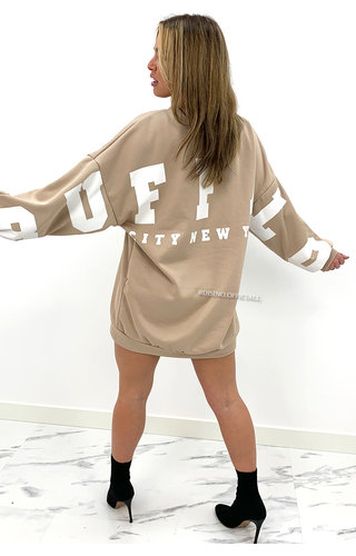 BEIGE - 'BUFFALO SWEATER' - INSPIRED OVERSIZED SWEATER