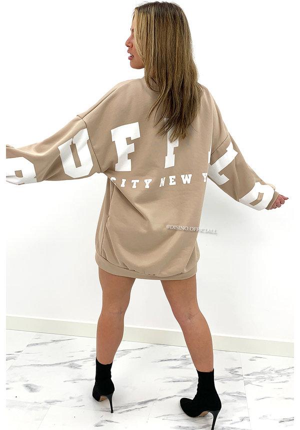 BEIGE - 'BUFFALO SWEATER' - INSPIRED OVERSIZED SWEATER