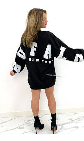 BLACK - 'BUFFALO SWEATER' - INSPIRED OVERSIZED SWEATER
