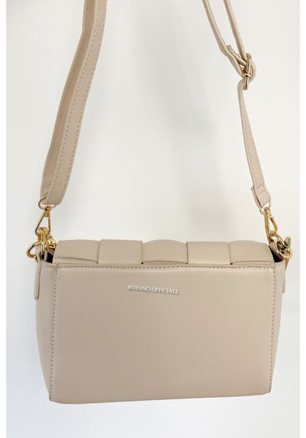 BEIGE - 'CASSETTE BAG' - INSPIRED BAG WITH CHAIN