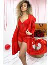 RED - 'VALENTINO' - SATIN SEXY 3 PIECE SET