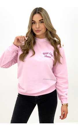 PINK - 'DOR GIRL' - SOFT EMBROIDED SWEATER