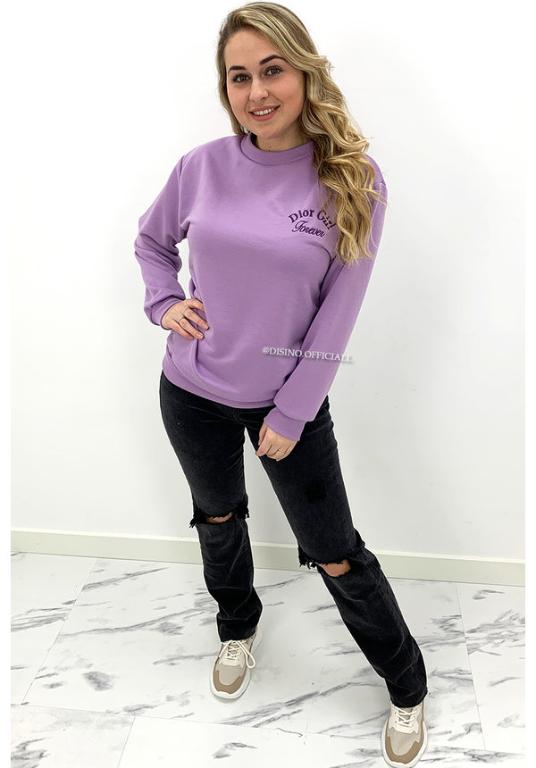 LILA - 'DOR GIRL' - SOFT EMBROIDED SWEATER