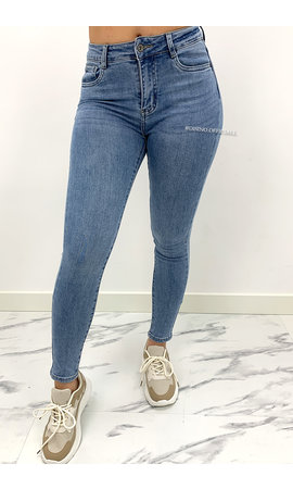 REDIAL - LIGHT BLUE - PERFECT BASIC HIGH WAIST SKINNY JEANS - 5913
