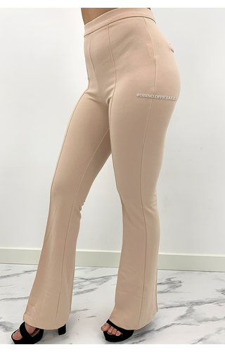 BEIGE - 'NORAH' - SUPER HIGH WAIST FLARED PANTS