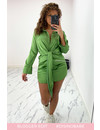(PRE-ORDER VERZ 8 SEPT) GREEN - 'CLAIRE' - SILKY KNOT BLOUSE DRESS