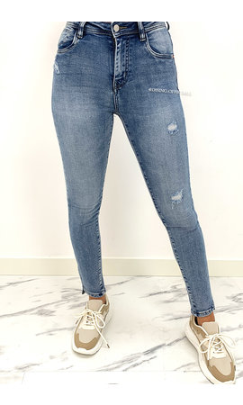 QUEEN HEARTS JEANS - LIGHT BLUE - PERFECT HIGH JEANS - 912