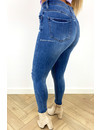 QUEEN HEARTS JEANS - BLUE - PERFECT SKINNY HIGH WAIST - 827