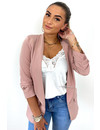 BLUSH - 'LINA SHORT' - PERFECT RUCHED SLEEVE BLAZER