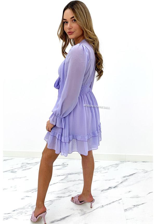 LILA - 'ADELINA' - FLORAL KNOT ON RUFFLE DRESS