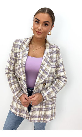 LILA - 'OLIVIA' - DOUBLE BREASTED TWEED JACKET