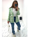 GREEN - 'OLIVIA' - DOUBLE BREASTED TWEED JACKET