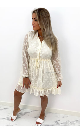 CREME - 'JAMILLA' - INSPIRED RUFFLE DRESS