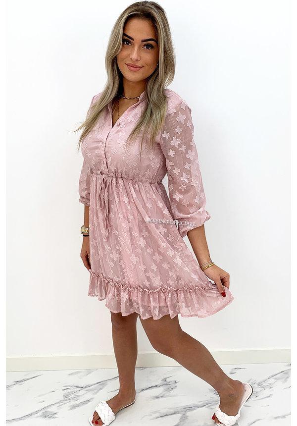 PINK - 'JAMILLA' - INSPIRED RUFFLE DRESS