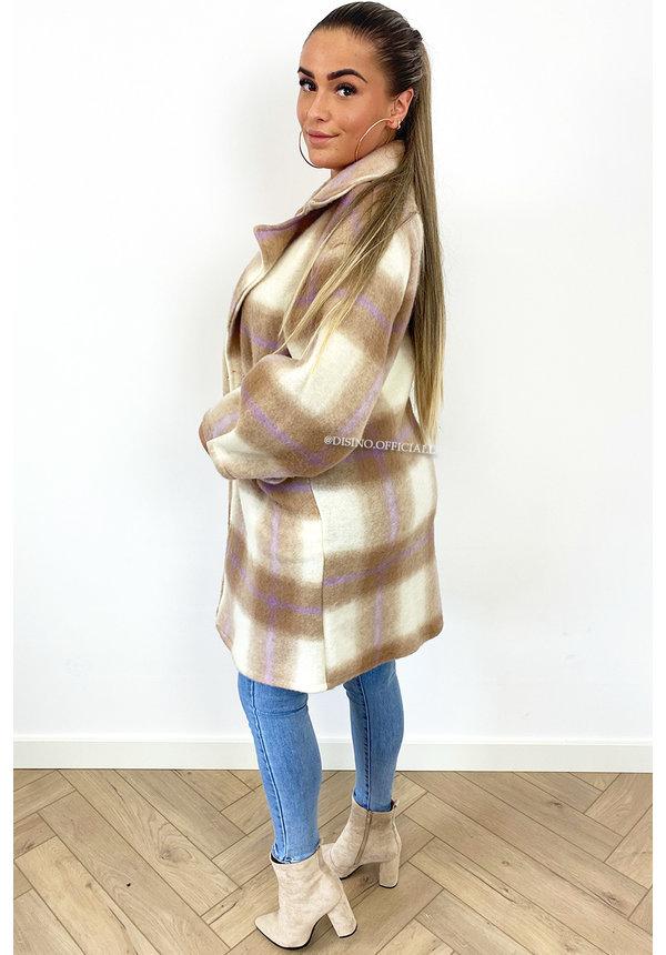 BEIGE - 'ALISSA' - OVERSIZED COZY COAT