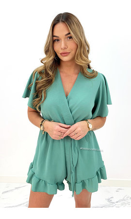 MINT GREEN - 'STACEY' - CUTE RUFFLE PLAYSUIT