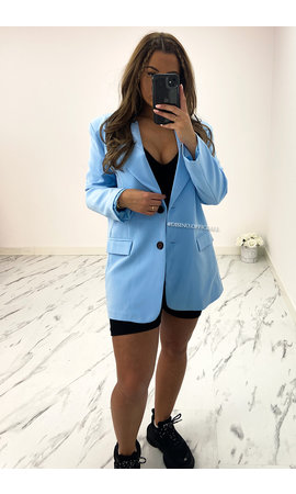 LIGHT BLUE - 'DIDI' - OVERSIZED BOYFRIEND BLAZER