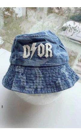DARK BLUE - 'CAMO BUCKET HAT' - INSPIRED DENIM BUCKET HAT